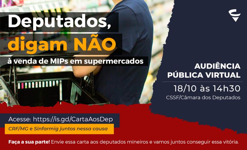 CRF/MG mobiliza deputados mineiros para votarem contra à venda de MIPs em supermercados